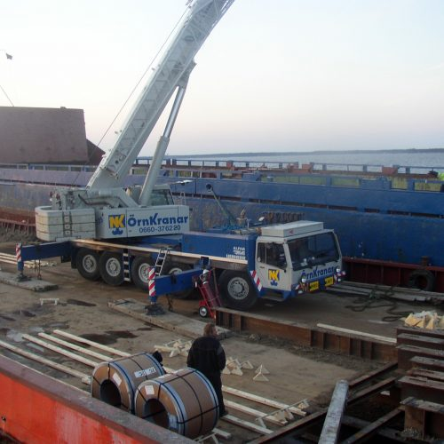 Läktring av grundstött fartyg